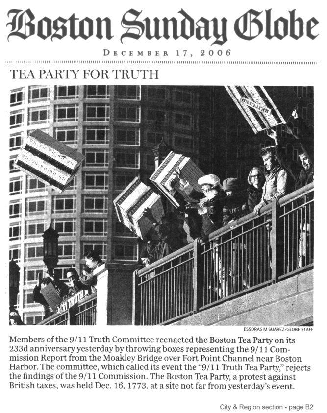 A real tea party, 9/11 truth.