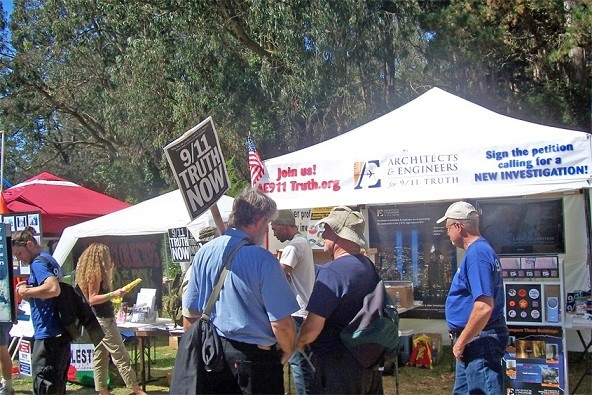 Architects and engineers for 9 11 truth at the 12th annual power to the peaceful festival