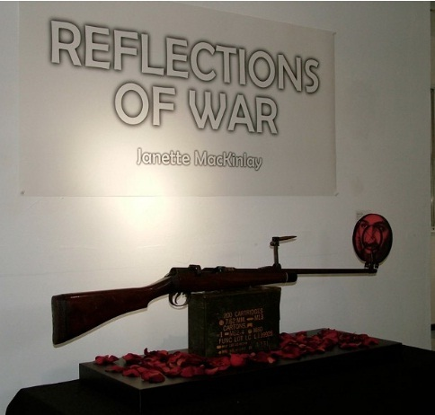 Image of piece entitled, Reflections of War