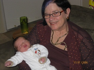 Image of Proud Grandma Janette with Huxley